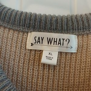 say what Dresses - Sweater dress sequin elbows